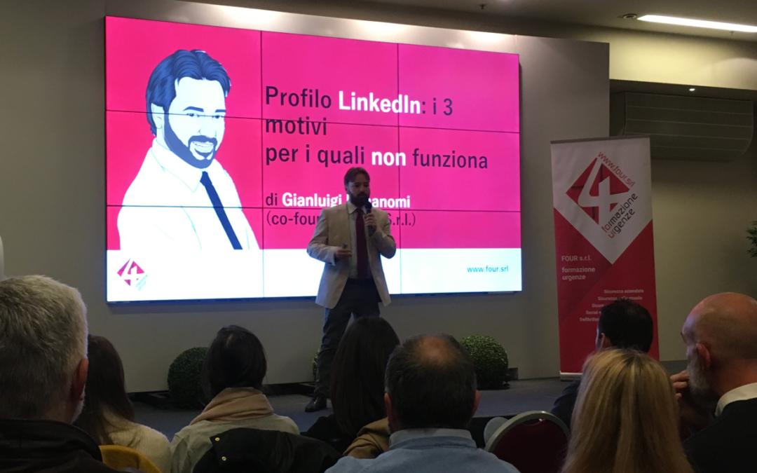 """Presentazione di Four, Gianluigi Bonanomi: """"LinkedIn, i tre motivi per i quali non funziona"""""""